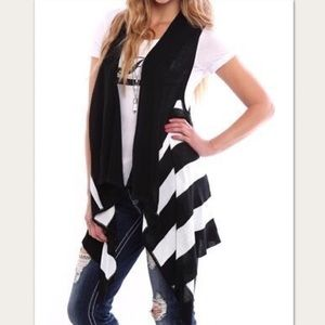🎄racerback waterfall vest